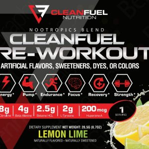 PreWorkout Sample 1 Serving Final Label